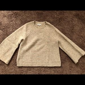Madewell bell sleeve speckled sweater. Size M